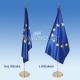 """3D Držiak pod vlajku pre Interiérový stojan jednoramenný farbený """"zlatý"""""""