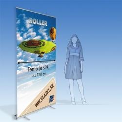 Reklamný panel Roller strieborný 120