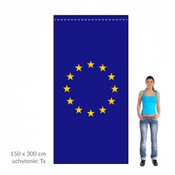 EÚ zástava 150x300 cm