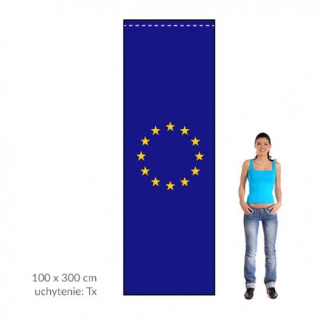 EU zástava 100x300 cm