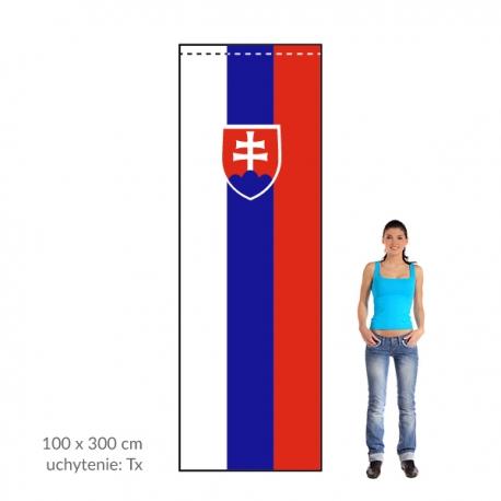 SR zástava 100x300 cm
