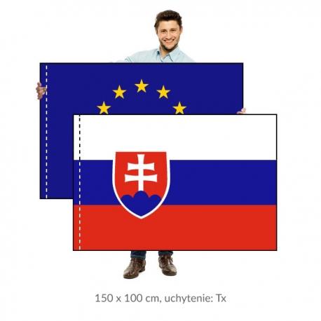 Sada SR+EU vlajka 150x100 cm