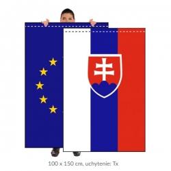 Sada SR+EÚ zástava 100x150 cm