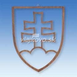 Znak SR drevený frézovaný čerešňa