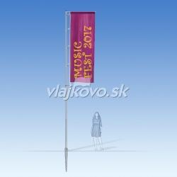 Teleskop 1,6 až 5,8 m - mobilný vlajkový stožiar + zástava