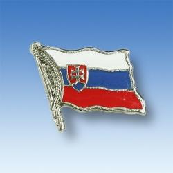 Odznak SR vlajka vejúca - strieborný lem
