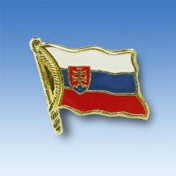 Odznak SR vlajka vejúca - zlatý lem