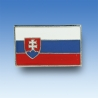 Odznak SR vlajka - strieborný lem