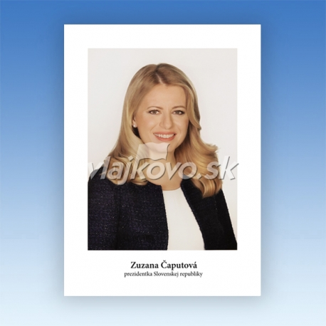 Portrét prezidentky SR, papier