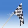 Štartovacia vlajka 60 x 40 cm, mávatko na drevenej paličke