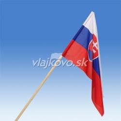 SR vlajka 60 x 40 cm, mávatko na drevenej paličke