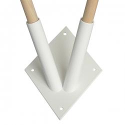 Fasádová kotva biela pre 2 vlajky