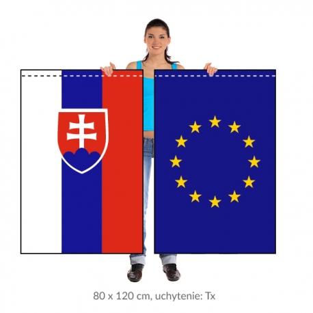 Sada SR+EÚ zástava 80x120 cm