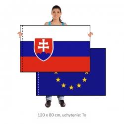 Sada SR+EU vlajka 120x80 cm